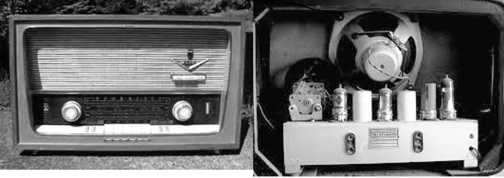 valve radio of fifties