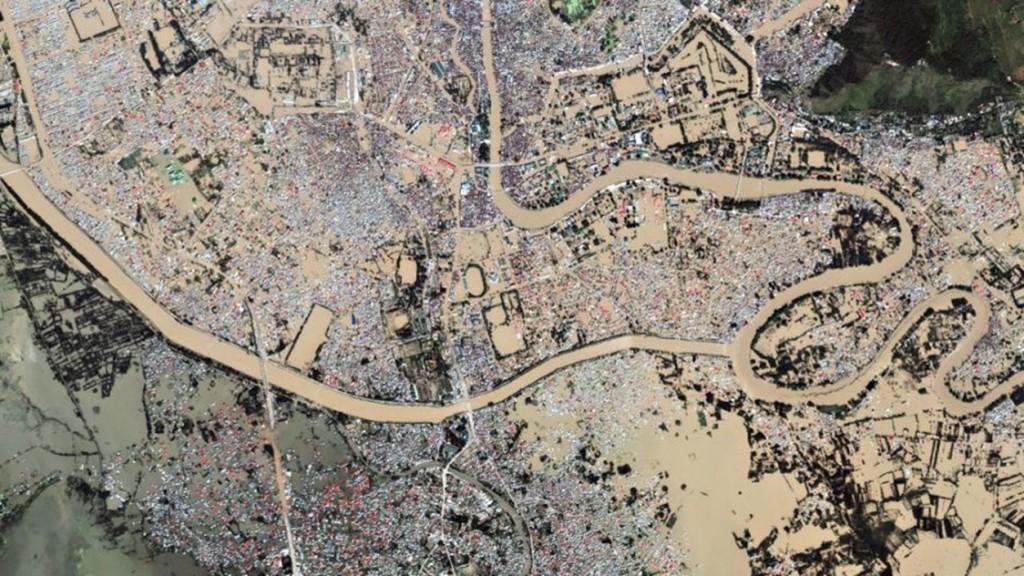 srinagar in flood