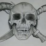 skull gun knife