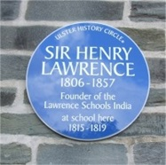 A plaque in Foyle's College
