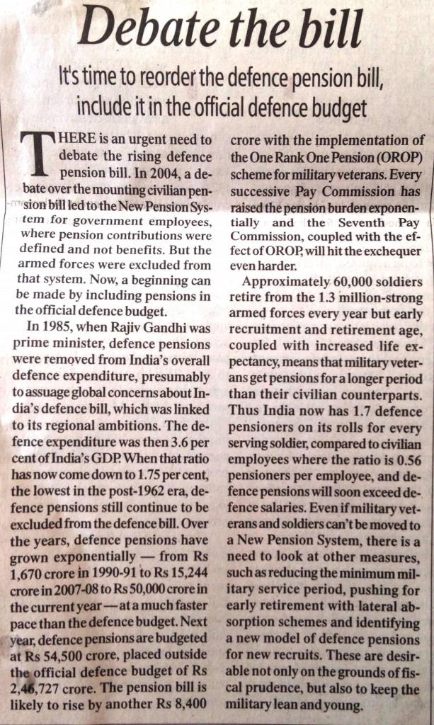 Per Capita Soldiers in India
