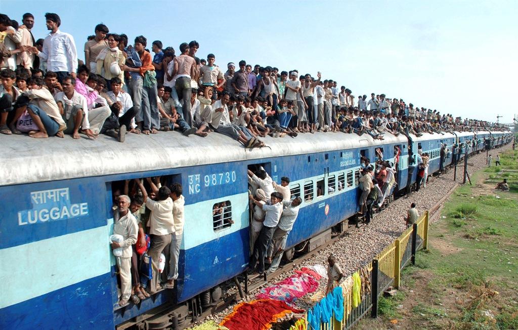 train crowded
