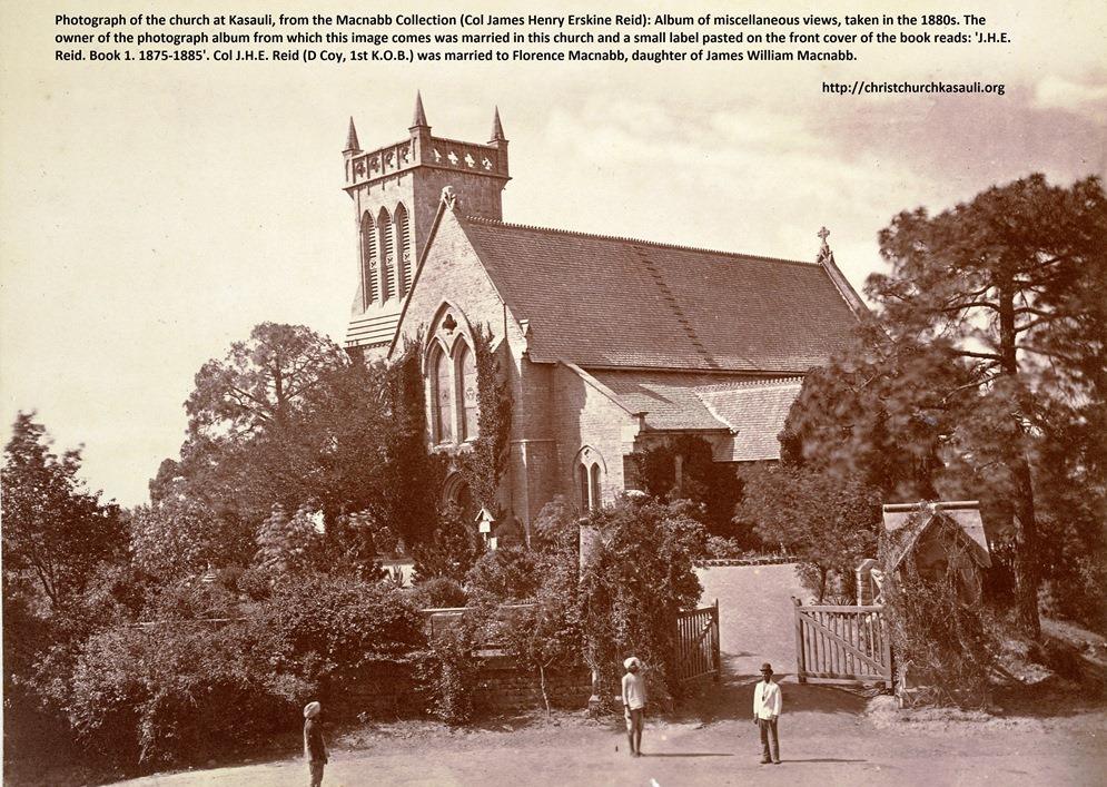 Christ Church Kasauli in 1880