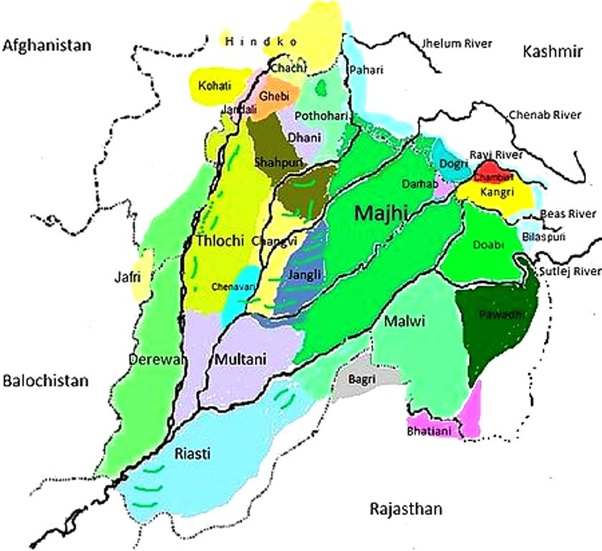 major dialects of punjabi