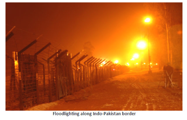 flood lighting on border ed