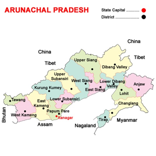 arunachal map