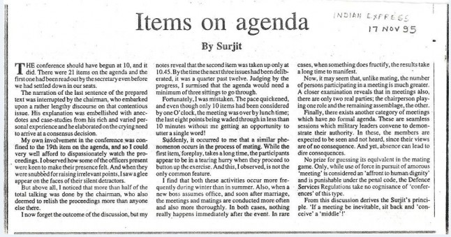 Pic of Items on agenda