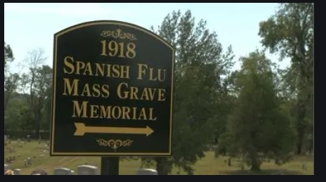 spanish flu mass grave